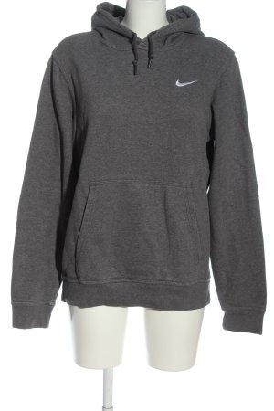 Nike Kapuzensweatshirt hellgrau meliert schlichter Stil