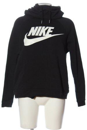 Nike Kapuzensweatshirt schwarz-weiß Motivdruck Casual-Look