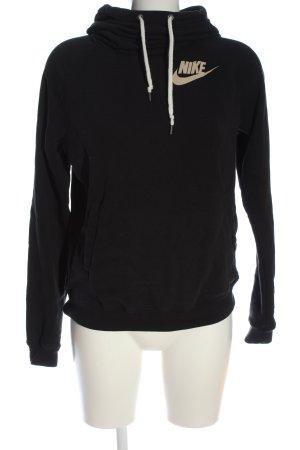 Nike Kapuzensweatshirt schwarz Schriftzug gedruckt Casual-Look