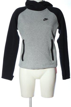 Nike Kapuzensweatshirt hellgrau-schwarz meliert Casual-Look