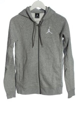 Nike Sweatjacke hellgrau meliert schlichter Stil
