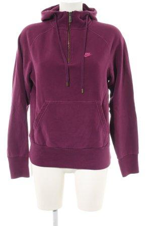 Nike Kapuzensweatshirt pink Schriftzug gestickt sportlicher Stil