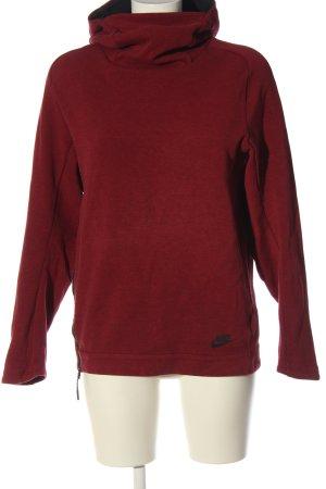 Nike Kapuzensweatshirt rot-schwarz Casual-Look