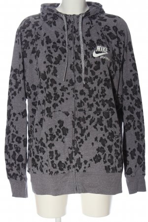 Nike Kapuzensweatshirt hellgrau-schwarz Allover-Druck Casual-Look