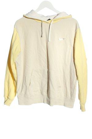 Nike Kapuzensweatshirt wollweiß-blassgelb Casual-Look