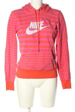Nike Kapuzensweatshirt pink-hellorange Schriftzug gedruckt Casual-Look