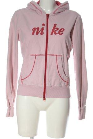 Nike Kapuzensweatshirt pink-rot Schriftzug gestickt Casual-Look