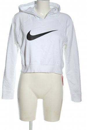 Nike Kapuzensweatshirt weiß Motivdruck Casual-Look