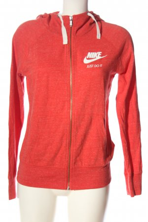 Nike Kapuzensweatshirt rot meliert sportlicher Stil