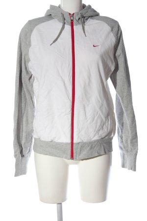 Nike Kapuzensweatshirt hellgrau-weiß sportlicher Stil