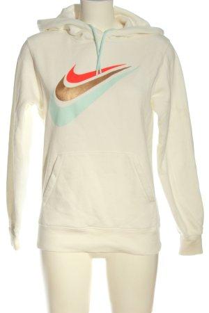 Nike Kapuzensweatshirt weiß Schriftzug gedruckt Casual-Look