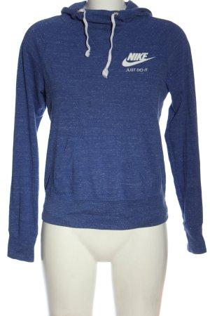 Nike Kapuzensweatshirt blau-weiß meliert Casual-Look