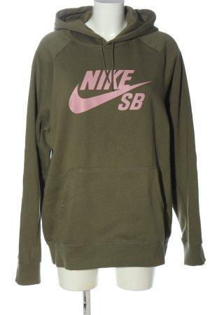 Nike Kapuzensweatshirt khaki-pink Motivdruck Casual-Look