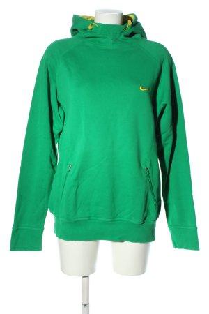 Nike Kapuzensweatshirt grün-blassgelb Casual-Look