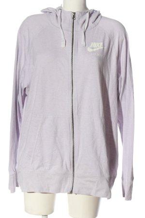 Nike Kapuzensweatshirt lila Motivdruck Casual-Look