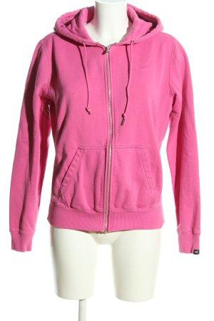 Nike Felpa con cappuccio rosa stile atletico