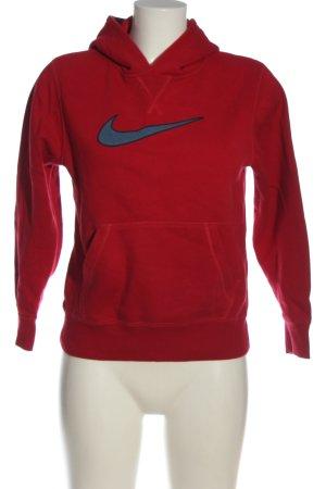 Nike Sweat à capuche rouge-bleu style décontracté