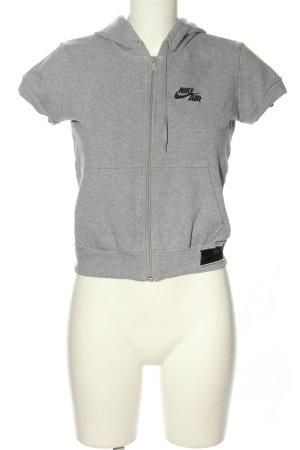Nike Kapuzenweste hellgrau meliert Casual-Look