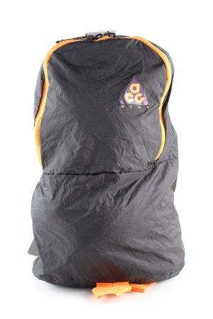 Nike Mini sac à dos noir-orange clair lettrage imprimé style décontracté