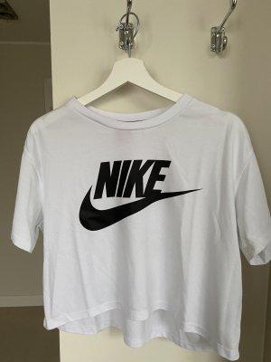 Nike Cropped Shirt white-black