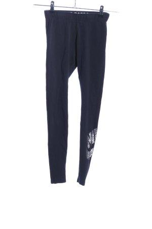Nike Leggings blau Schriftzug gedruckt Casual-Look
