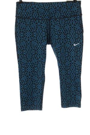 Nike Leggings schwarz-blau abstraktes Muster sportlicher Stil