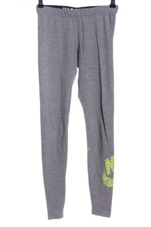 Nike Leggings hellgrau-blassgelb meliert sportlicher Stil