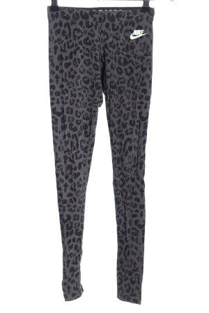 Nike Leggings gris claro-negro estampado de leopardo look casual