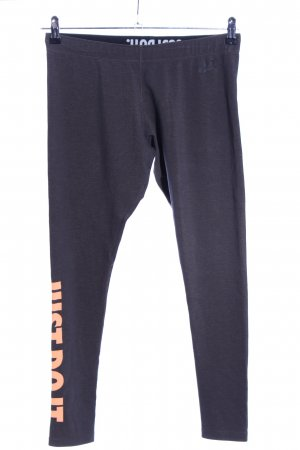 Nike Leggings schwarz Schriftzug gedruckt Casual-Look