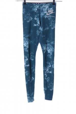 Nike Leggings türkis-blau abstraktes Muster Casual-Look