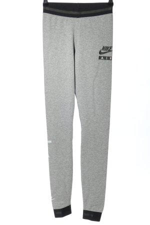 Nike Leggings hellgrau-schwarz meliert sportlicher Stil