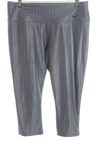 Nike Leggings grau-schwarz Punktemuster sportlicher Stil