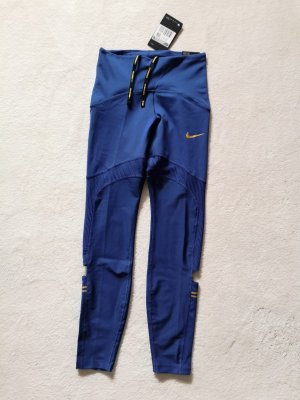 Nike Leggins Leggings Speed tight fit NEU XS 34 blau gold
