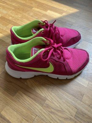 Nike leichte Laufschuhe pink/neongelb 37,5