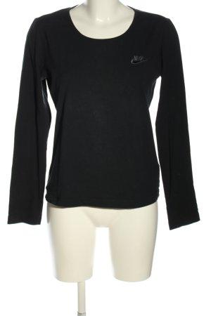 Nike Longsleeve schwarz Schriftzug gestickt Casual-Look