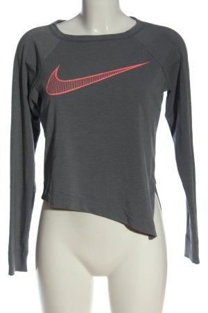 Nike Longsleeve hellgrau-pink Casual-Look