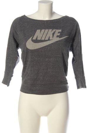 Nike Longsleeve hellgrau-creme meliert sportlicher Stil