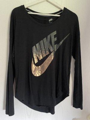 Nike Longsleeve Laufshirt in schwarz Gr. M