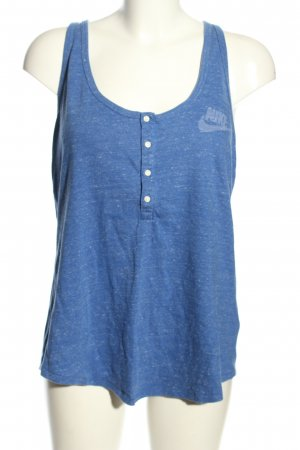 Nike Muscle Shirt blue flecked casual look