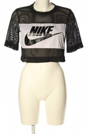 Nike Mesh Shirt black-white printed lettering athletic style