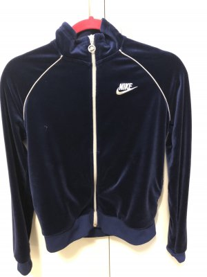 Nike Nicki-Jacke im Retrostyle, dunkelblau, Gr. S