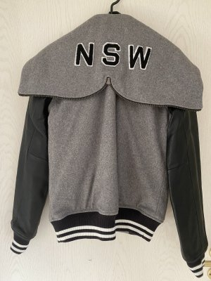 Nike College jack grijs-zwart Wol