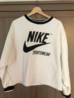 Nike Oversized Sweater white-black