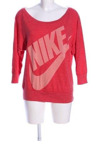Nike Oversized Pullover rot Schriftzug gedruckt Casual-Look