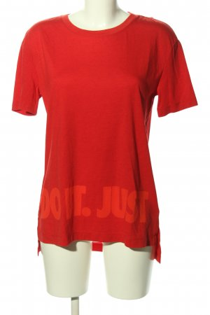 Nike Oversized Shirt rot Motivdruck Casual-Look