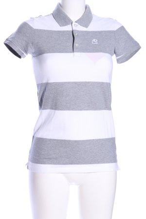 Nike Polo-Shirt weiß-hellgrau meliert Casual-Look