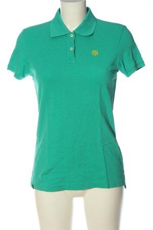 Nike Camiseta tipo polo turquesa look casual