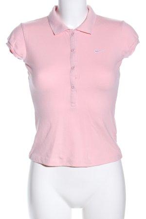 Nike Polo-Shirt pink Motivdruck Casual-Look
