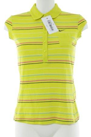Nike Polo-Shirt Streifenmuster Casual-Look