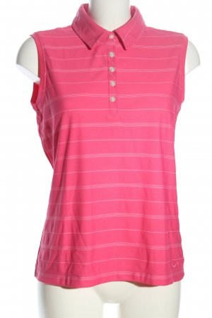 Nike Polo Top pink allover print casual look